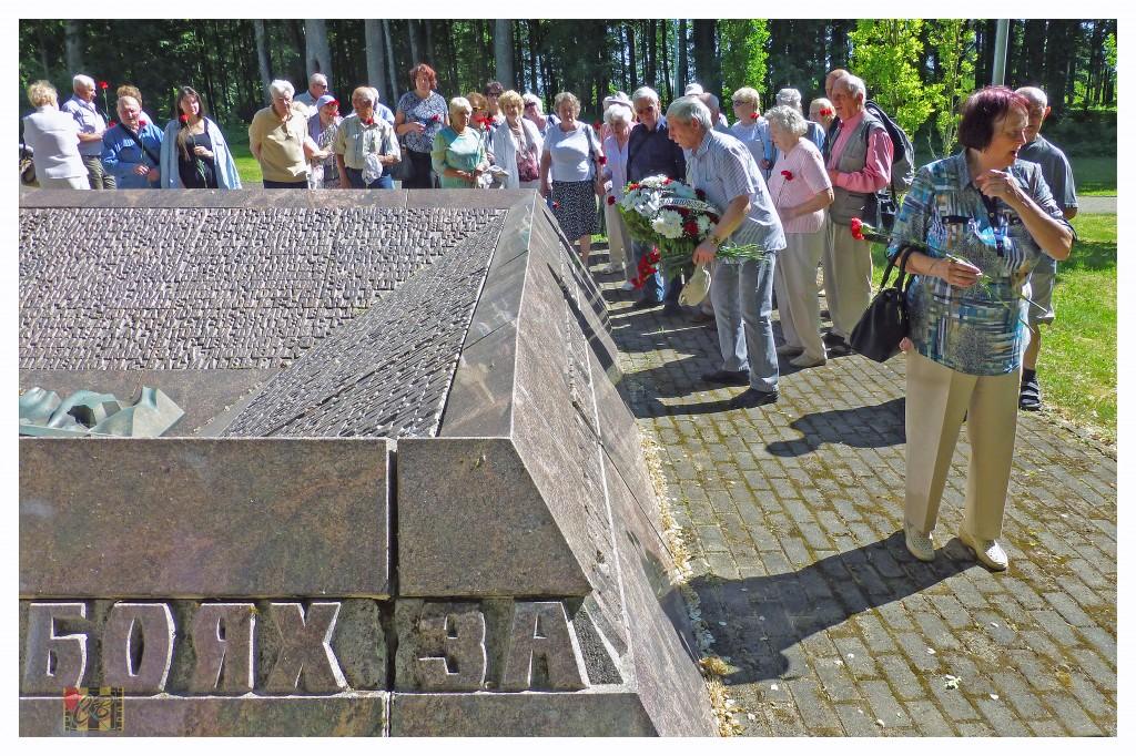 У братской могилы павших красноармейцев (фото Олег Кошёлкин)