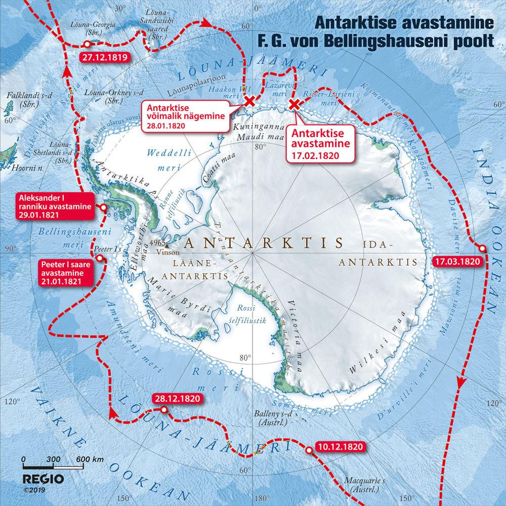 Открытие антарктики экспедицией Ф.Беллинсгаузена. © Фото : Eesti Meremuuseum